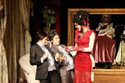 Agnes Hio (Cedric), Yolanda So (Charles) and Francis Chan (Bernice)