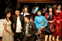 Front: Joyce Cece Chan (Henriette), Christopher Tsui (Sebastian), Yolanda So (Charles); back: Ines Kwai-pun (Ah Lin), Rosalind Wong (Justine) and Minna Cheung (Pamela)