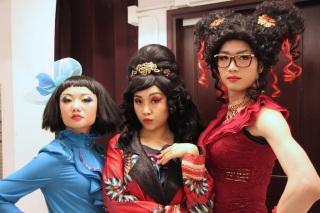 Rosalind Wong (Justine), Minna Cheung (Pamela) and Francis Chan (Bernice)
