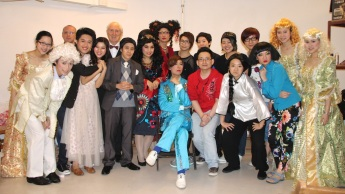 The director, producer, cast, musicians and make-up artists of The Learned Ladies of Mid-levels